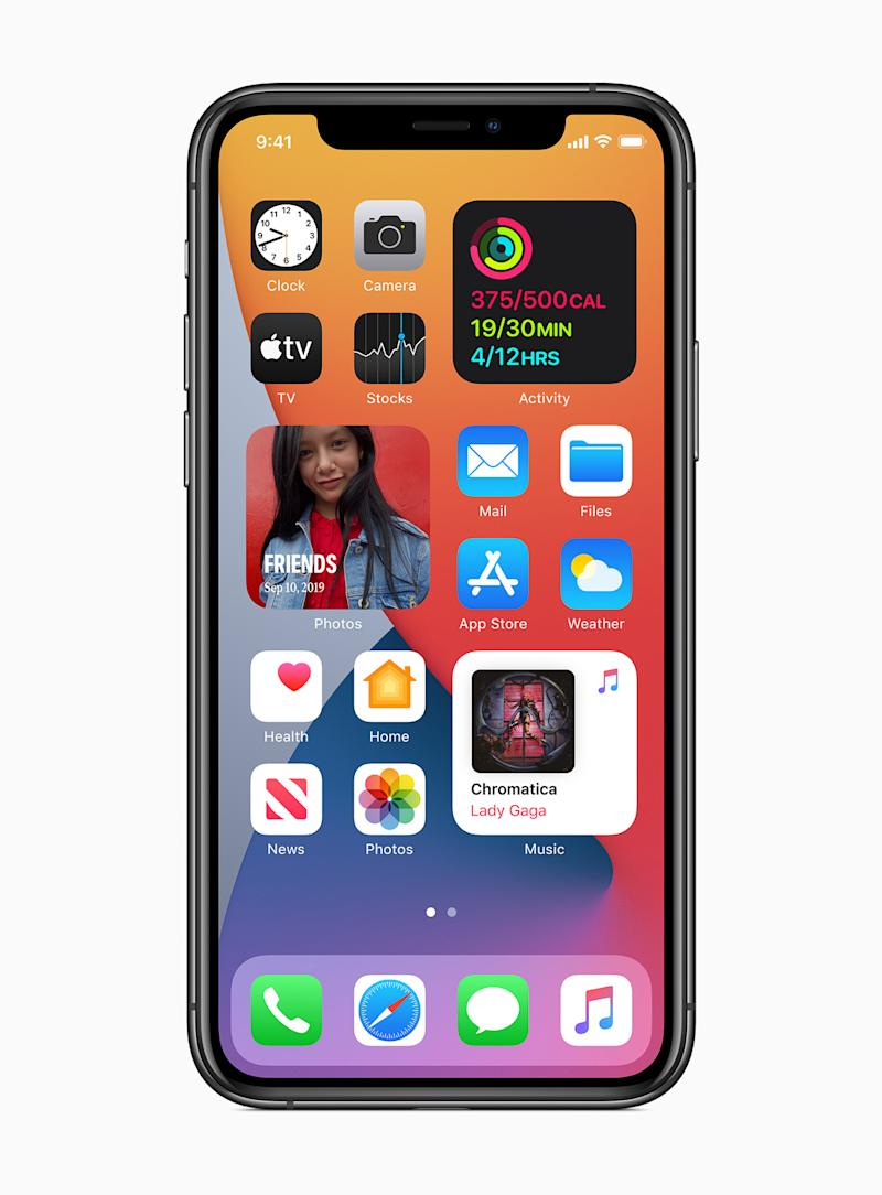 You can add widgets to the Home Screen. (PHOTO: Apple)