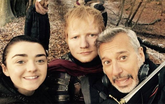 Ed posted this behind the scenes photo. Source: Instagram