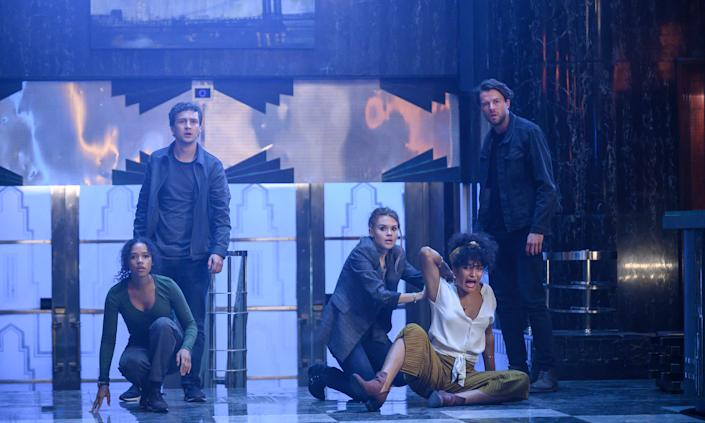Taylor Russell, Logan Miller, Indya Moore, Holland Roden star in Escape Room 2: Tournament Of Champions. (Photo: Sony Pictures)