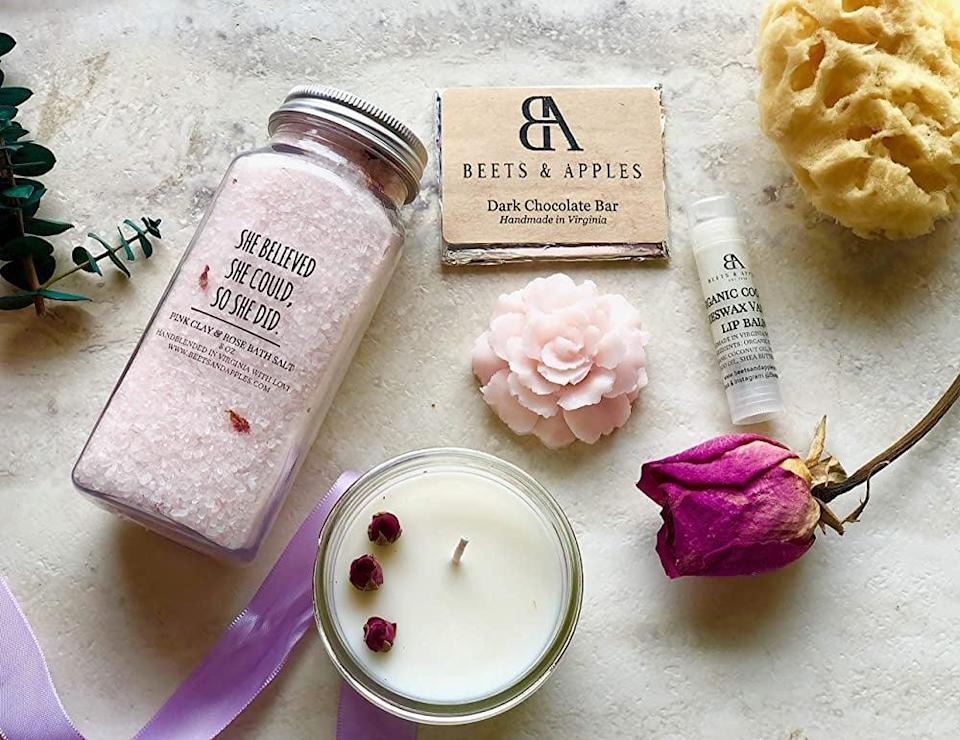 <p>Give the women you love the <span>Self Care Gift Basket</span> ($30) or even treat yourself!</p>