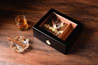 <p>Your dad will love and adore this <span>Personalized Engraved Cigar Humidor</span> ($43, and up) and not just because his prized cigars are in it.</p>