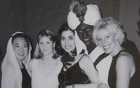 <span>The first photo to emerge showed Mr Trudeau, then a 29-year-old teacher, wearing brownface for a party at his private school</span> <span>Credit: The View Yearbook/Reuters </span>