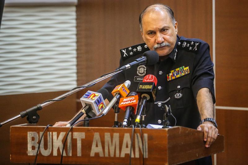 Special Branch director Datuk Seri Mohd Mokhtar Mohd Shariff's contract was scheduled to end in September. — Bernama pic