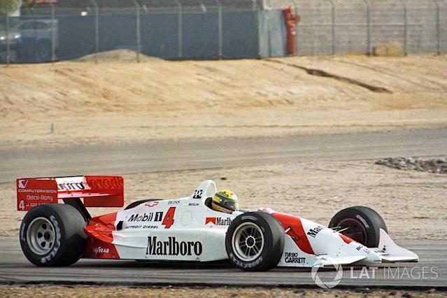 "Ayrton Senna, Penske Chevrolet PC22 <span class=""copyright"">Sutton Motorsport Images</span>"