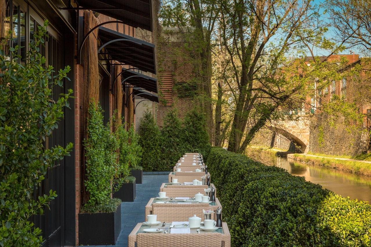 """<p><strong>What should we know before we go?</strong><br> A newer addition to D.C.'s luxury market, Rosewood opened right on Georgetown's C&O Canal in 2013 and quickly became one of the hottest places to stay in the city. Unlike competitors <a href=""""https://www.cntraveler.com/hotels/united-states/washington/ritz-carlton--washington-d-c-?mbid=synd_yahoo_rss"""">Ritz-Carlton</a> and <a href=""""https://www.cntraveler.com/hotels/united-states/washington/four-seasons-washington-d-c?mbid=synd_yahoo_rss"""">Four Seasons</a>, Rosewood offers a truly intimate feel—there are just 49 rooms and suites and six townhouses—that can't be replicated.</p> <p><strong>The good stuff: Tell us about the rooms.</strong><br> Rooms have vaguely Art Deco decor influences, and lots of little luxurious touches: non-alcoholic beverages in the minibar are free, fresh flowers are placed in every room, and luxurious Acqua di Parma toiletries in the dramatic marble baths are a perk.</p> <p><strong>Anything stand out about other services and features?</strong><br> Food and drink here are pricey, but worth it. Cut by Wolfgang Puck serves a seafood- and vegetable-forward menu, CUT Bar has a 2,500 bottle-strong stock and raw seafood counter, and CUT Above is a seasonal rooftop serving light bites and cocktails backed by city views.</p> <p><strong>Bottom line: worth it?</strong><br> It's not cheap, but the attentive service, stunning infinity pool, and private feel make it worth your while.</p>"""