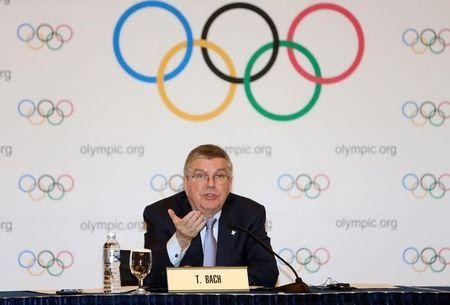 International Olympic Committee (IOC) President Thomas Bach speaks during a news conference in Pyeongchang