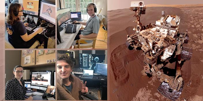 NASA's Mars Curiosity pilots working from home.