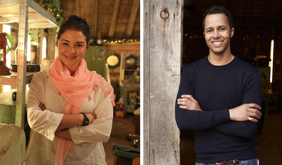 <p>Furniture restorers Sonnaz Nooranvary and Will Kirk of BBC's The Repair Shop, new episodes start from 8pm tonight</p> (Courtesy of BBC/Ricochet)