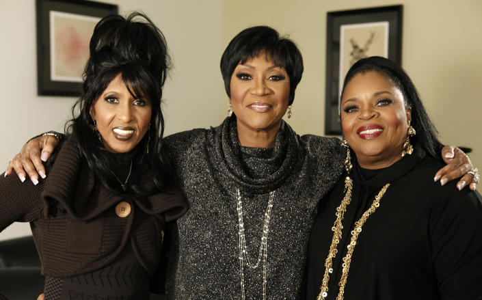 """FILE - Nona Hendryx, from left, Patti LaBelle, and Sarah Dash, of the group LaBelle, pose for a portrait in Los Angeles on Jan. 29, 2009. Dash, who co-founded of the all-female singing group, best known for their raucous 1974 hit """"Lady Marmalade,"""" has died. She was 76. Labelle and Hendryx announced their bandmate's death Monday on social media. (AP Photo/Matt Sayles, File)"""