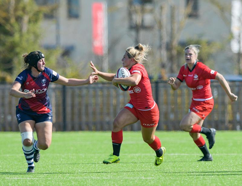 Vicky Fleetwood in action for reigning champions Saracens