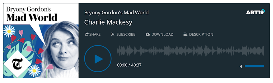 Bryony Gordon's Mad World podcast - Charlie Mackesy
