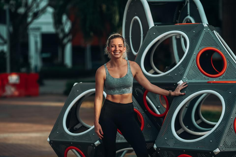 Courtney Gleason is a fitness instructor.