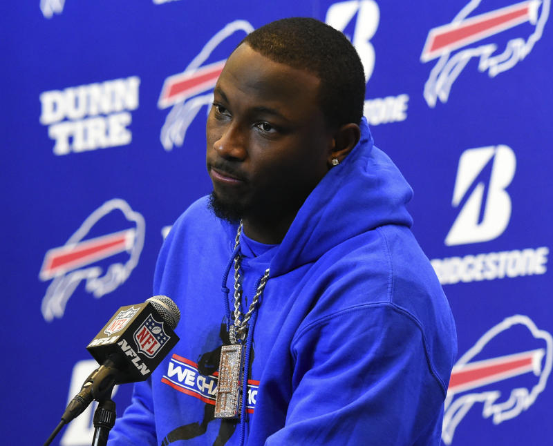 LeSean McCoy denies assaulting his ex-girlfriend in what police describe as a targeted home invasion. (AP)