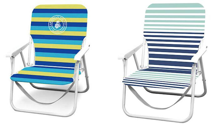 Fold up and easily stow away these simple chairs.