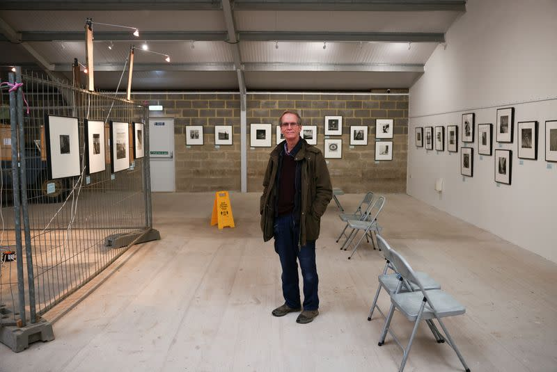 Antony Penrose, son of American photographer and surrealist Lee Miller, poses inside the exhibition of his mothers work, which he curates, at Farleys House & Gallery