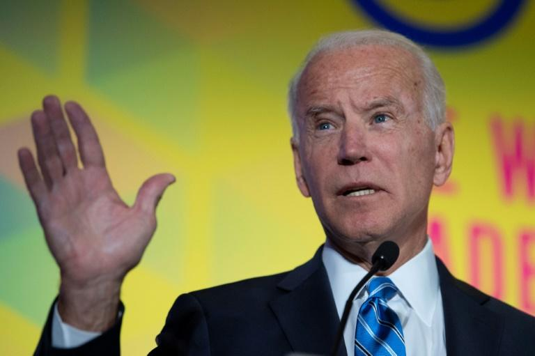 2020 Democratic presidential hopeful former US Vice President Joe Biden appears to be the target of Russian attacks on Facebook, according to data from the social network (AFP Photo/Eric BARADAT)