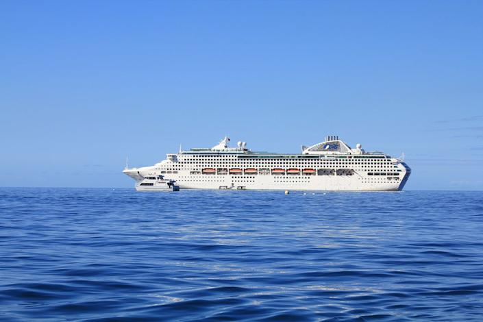 The Sea Princess cruise liner was on the first leg of a world tour: Getty Images