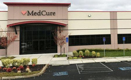 FILE PHOTO:    The headquarters of MedCure, one of the nation's largest body brokers, raided by FBI agents last week conducting a search warrant, is shown outside Portland, Oregon, November 6, 2017.   REUTERS/John Shiffman/File Photo