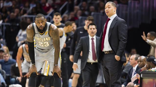 "<p>LeBron James spoke about Cavaliers coach Tyronn Lue stepping away from the team to deal with health issues Monday, and the four-time MVP compared the loss of the coach to that of a star player, <a href=""https://twitter.com/Rachel__Nichols/status/975752564108009473"" rel=""nofollow noopener"" target=""_blank"" data-ylk=""slk:according"" class=""link rapid-noclick-resp"">according</a> to Rachel Nichols of ESPN.</p><p>""It's like losing one of your best players, obviously,"" James said, according to Nichols. ""The guy who's the captain of our ship, who's been running things the past three years.""</p><p>Lue has been the coach in Cleveland since he took over in the middle of the 2015-16 season, replacing David Blatt. On Monday, the team announced he will take a<a href=""https://www.si.com/nba/2018/03/19/tyronn-lue-illness-stepping-away-coaching-cleveland-cavaliers-larry-drew"" rel=""nofollow noopener"" target=""_blank"" data-ylk=""slk:temporary leave of absence"" class=""link rapid-noclick-resp""> temporary leave of absence</a> to address his health issues that forced him to remaining the locker room after halftime of Saturday's win against the Bulls.</p><p>David Aldridge of TNT <a href=""https://twitter.com/daldridgetnt/status/975756060475748353"" rel=""nofollow noopener"" target=""_blank"" data-ylk=""slk:reports"" class=""link rapid-noclick-resp"">reports</a> Lue only plans to miss a week, and then return to the sidelines. Associate head coach Larry Drew will fill in while he is gone.</p><p>• <strong><a href=""https://www.si.com/nba/2018/03/16/all-nba-debates-awards-lebron-james-kevin-durant-james-harden"" rel=""nofollow noopener"" target=""_blank"" data-ylk=""slk:The All-NBA Debates: Who Deserves to Make the Cut?"" class=""link rapid-noclick-resp"">The All-NBA Debates: Who Deserves to Make the Cut?</a></strong></p><p>James also told reporters Monday that while Lue was with the team, ""he was never not himself"" and ""he was the same every single day even though he was going through what he was going through.""</p><p>Cleveland is 40-29 and holding onto third in the East, just a half game ahead of the Wizards and Pacers who are tied for fourth and only 1.5 games ahead of the 76ers in sixth.</p><p>The Cavaliers will host the seventh-place Bucks on Monday.</p>"