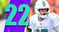 <p>Four of the Dolphins' final six games come against teams who sit at .500 or less. Two of those games are against the Bills. If the Dolphins can win those games and get to 9-7 … just saying. It seems like some 9-7 team will make the AFC playoffs. (Ryan Tannehill) </p>
