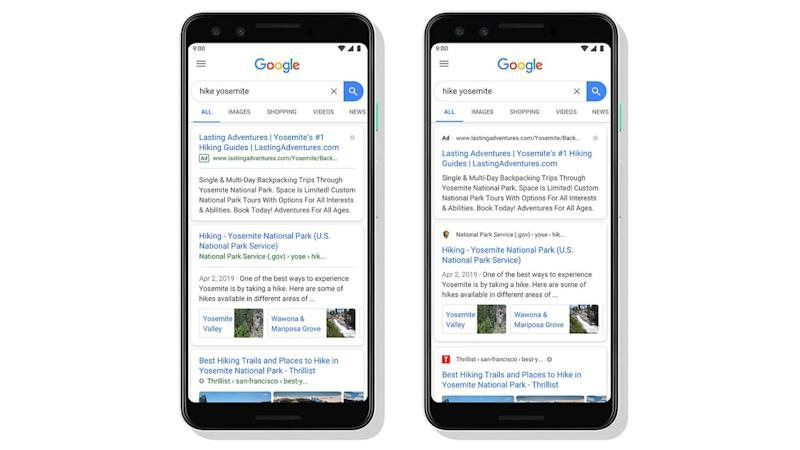 Google Search design has been refreshed to give it a more News Feed-like look