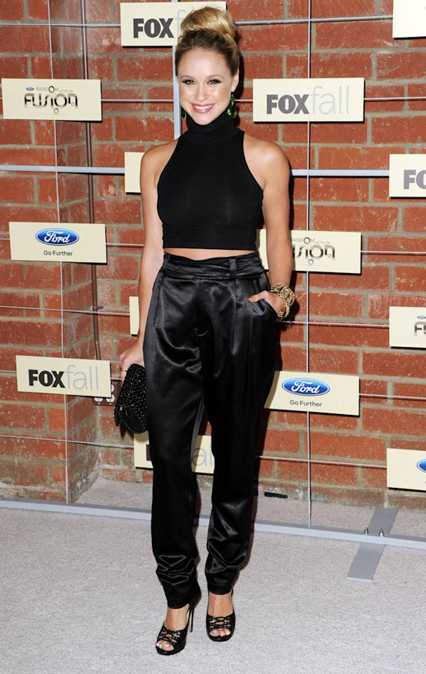 "Becca Tobin (""Glee"") attends Fox's Fall 2012 Eco-Casino party at The Bookbindery on September 10, 2012 in Culver City, California."