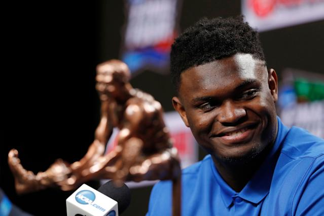 Zion Williamson is going to the NBA. (AP Photo/Charlie Neibergall)