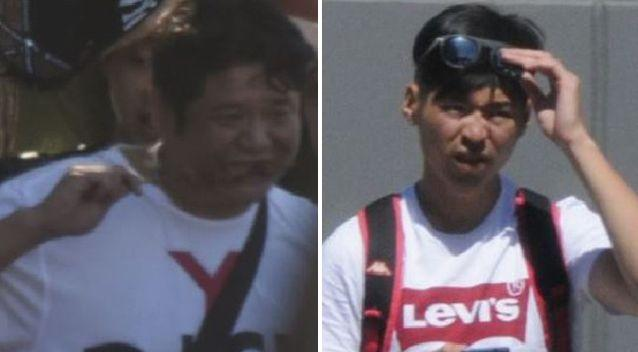 Police are still looking for these two men, seen frequenting the Box Hill area. Source: Victoria Police