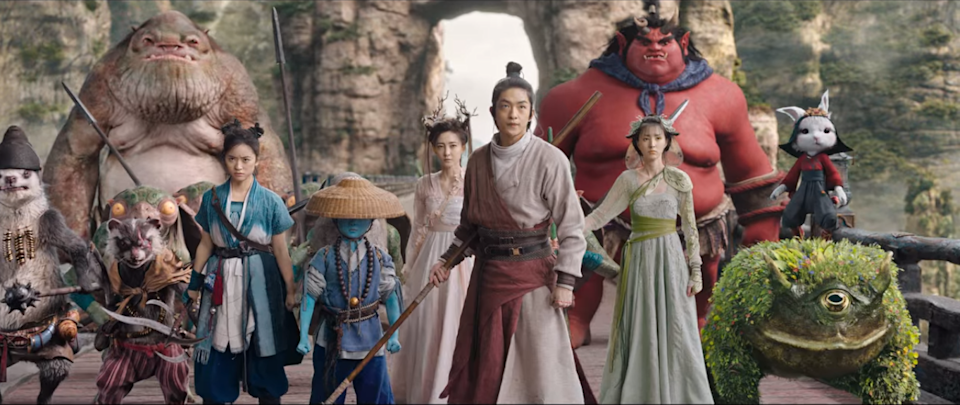 The Demon Realm in Yin Yang Master is brilliantly rendered and colorfully immersive (Photo: Netflix)