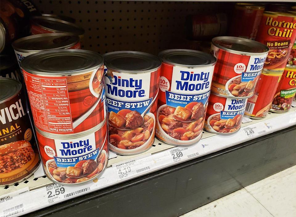 cans of dinty moore beef stew