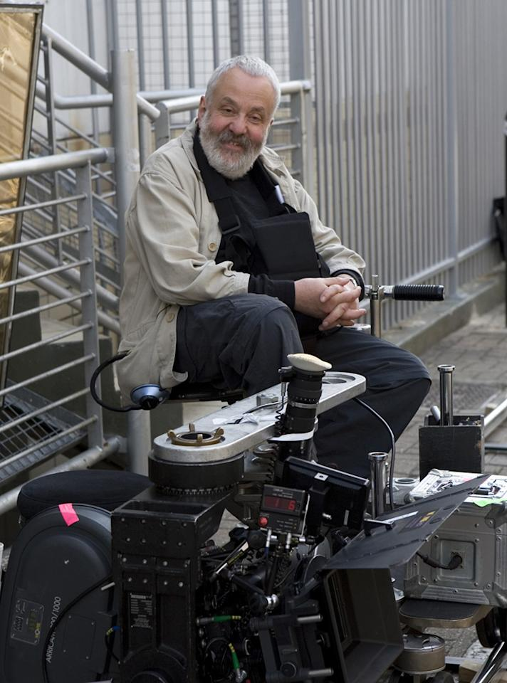"""Director <a href=""""http://movies.yahoo.com/movie/contributor/1800076523"""">Mike Leigh</a> on the set of Miramax Films' <a href=""""http://movies.yahoo.com/movie/1809934812/info"""">Happy-Go-Lucky</a> - 2008"""