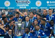 The cost of Leicester's title-winning squad barely exceeded 50 million pounds (AFP Photo/Adrian Dennis)