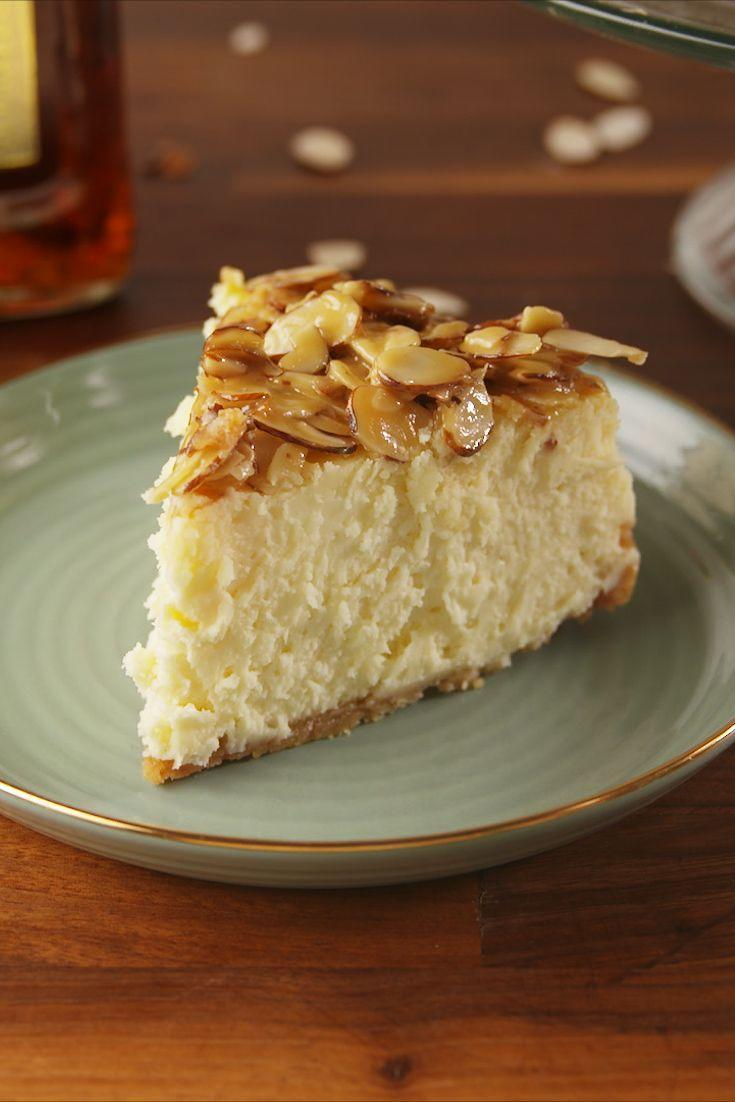 """<p>The perfect pairing.</p><p>Get the recipe from <a href=""""https://www.delish.com/cooking/recipe-ideas/recipes/a56758/amaretto-cheesecake-recipe/"""" rel=""""nofollow noopener"""" target=""""_blank"""" data-ylk=""""slk:Delish"""" class=""""link rapid-noclick-resp"""">Delish</a>. </p>"""