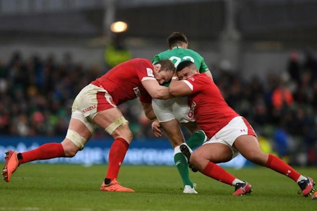 Ireland outmuscled Wales to remain unbeaten in the Six Nations (AFP Photo/DANIEL LEAL-OLIVAS)