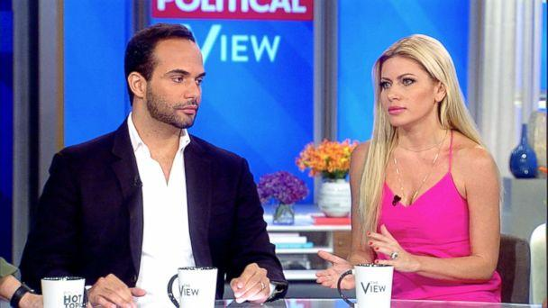 PHOTO: George Papadopoulos appears on 'The View' with his wife, Simona Mangiante Papadopoulos, Sept, 09, 2018. (ABC)