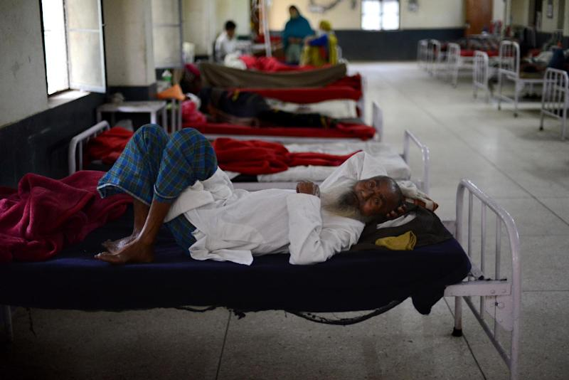 An Indian tuberculosis patient rests at the Rajan Babu Tuberculosis Hospital in New Delhi on March 24, 2014