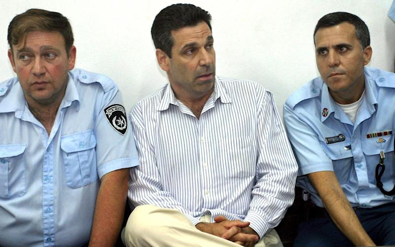 In this file photo taken on April 22, 2004, former Israeli energy minister Gonen Segev appears at the Tel Aviv district tribunal - AFP