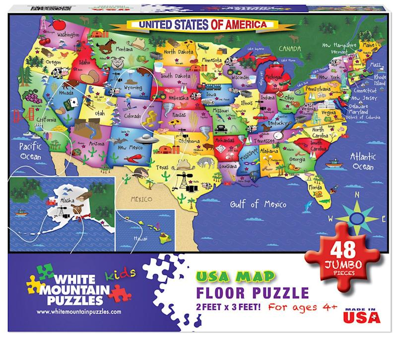 White Mountain Puzzles US Map - 48 Piece Jigsaw Puzzle. (Photo: Amazon)