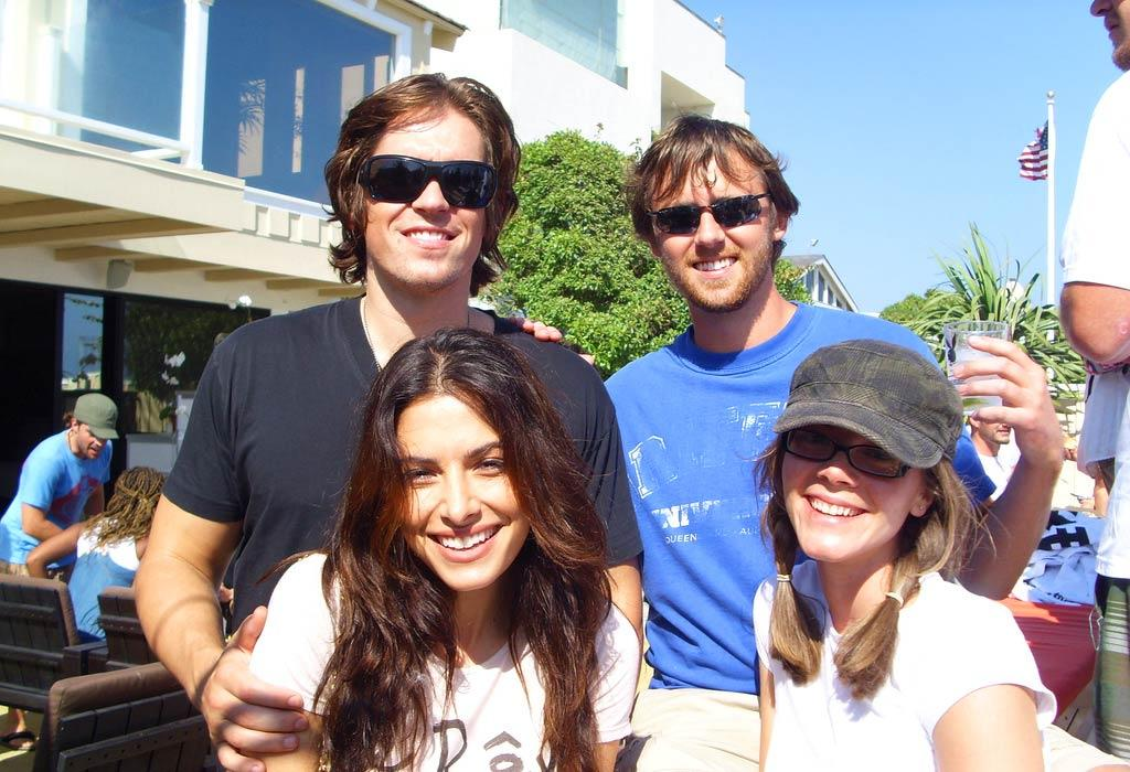 Steve Howie, Sarah Shahi, and friends soak up some sun at the Polaroid Malibu Beach House. omg! Staff/Polaroid Malibu Beach House - August 13, 2007