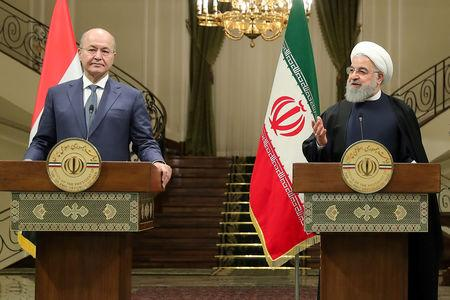 Iran's President Hassan Rouhani speaks during a news conference with Iraq's President Barham Salih in Tehran, Iran, November 17, 2018. Official President website/Handout via REUTERS