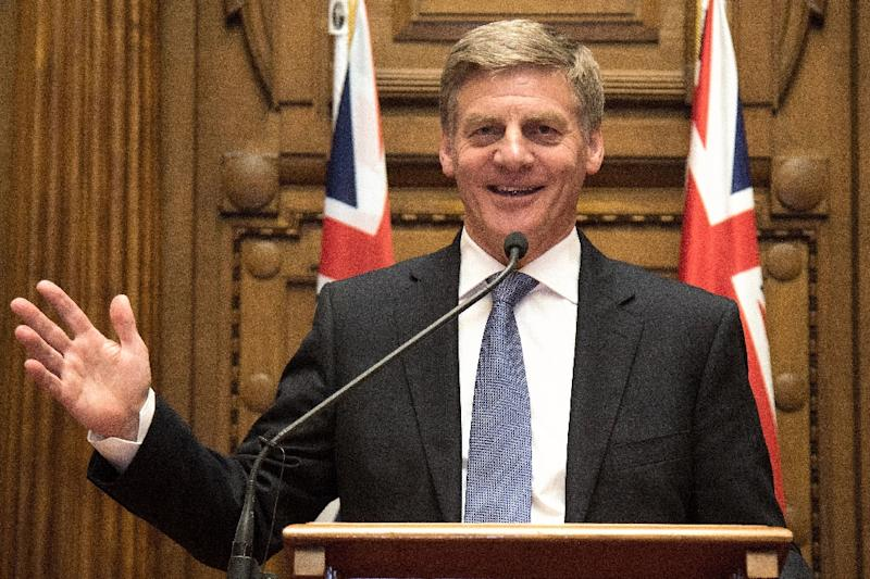 New Zealand's Prime Minister Bill English speaks during a press conference at Parliament in Wellington, on December 12, 2016