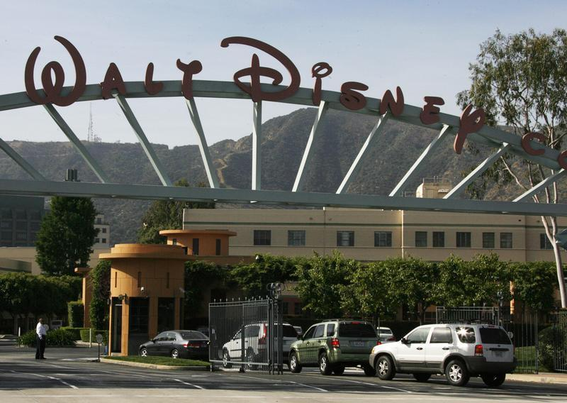 The main gate of entertainment giant Walt Disney Co. is pictured in Burbank