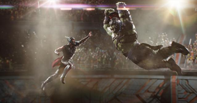 Thor vs. Hulk in <em>Thor: Ragnarok</em> (Photo: Marvel Studios)