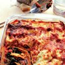 """<p>Traditional lasagne involves a lengthy round of sauce-making and assembly. However, ready-made sauces and a jar of grilled aubergines make this lasagne recipe quick and easy to whip up.</p><p><strong>Recipe: <a href=""""https://www.goodhousekeeping.com/uk/food/recipes/a537227/spinach-and-aubergine-lasagne/"""" rel=""""nofollow noopener"""" target=""""_blank"""" data-ylk=""""slk:Spinach and aubergine lasagne"""" class=""""link rapid-noclick-resp"""">Spinach and aubergine lasagne</a></strong></p>"""