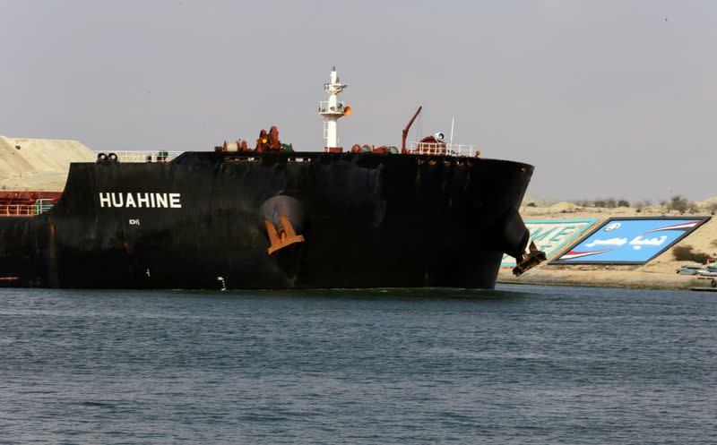 FILE PHOTO: Traffic in Suez Canal resumes after stranded ship refloated