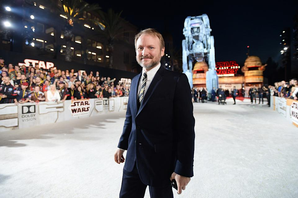 LOS ANGELES, CA - DECEMBER 09:  Writer/Director Rian Johnson at the world premiere of Lucasfilm's Star Wars: The Last Jedi at The Shrine Auditorium on December 9, 2017 in Los Angeles, California.  (Photo by Charley Gallay/Getty Images for for Disney)