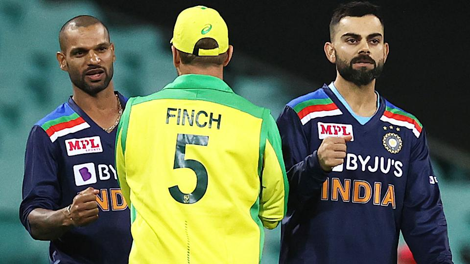Virat Kohli, pictured here after the second ODI between Australia and India.
