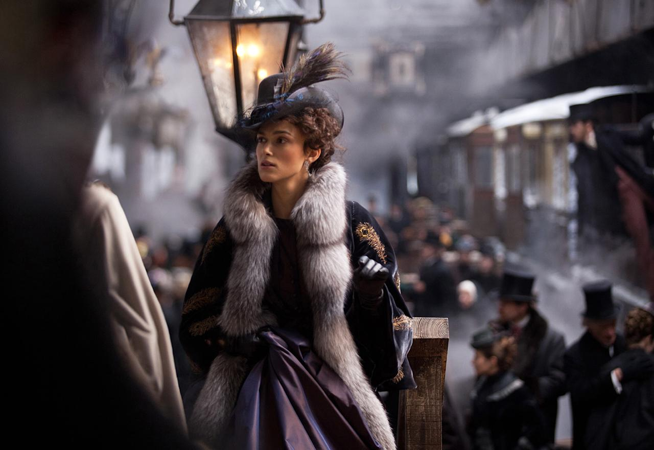 """Best Costume Design: Jacqueline Durran, """"Anna Karenina"""" Durran won the award for period costumes from the Costume Design Guild, and her collaboration with Joe Wright has resulted in stunning outfits that bend and adapt historical details but always seem just right."""