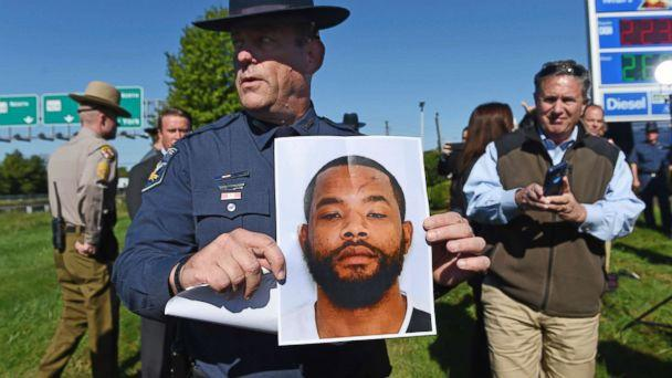 PHOTO: Harford County Sheriff Jeffrey Gahler shows a picture of suspect Radee Labeeb Prince, 37, after news conference (Kenneth K. Lam/The Baltimore Sun via AP)