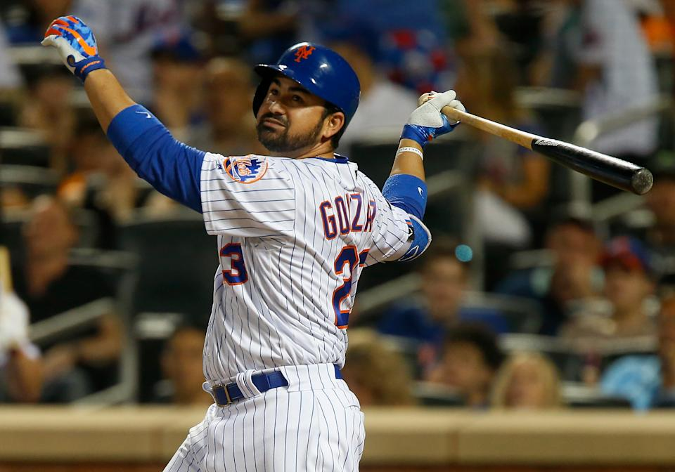 NEW YORK, NY - JUNE 02:  Adrian Gonzalez #23 of the New York Mets in action against the Chicago Cubs at Citi Field on June 2, 2018 in the Flushing neighborhood of the Queens borough of New York City. The Cubs defeated the Mets 7-1 in 14 innings.  (Photo by Jim McIsaac/Getty Images)